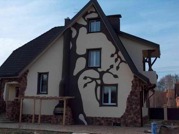 Идеи покраски фасада дома