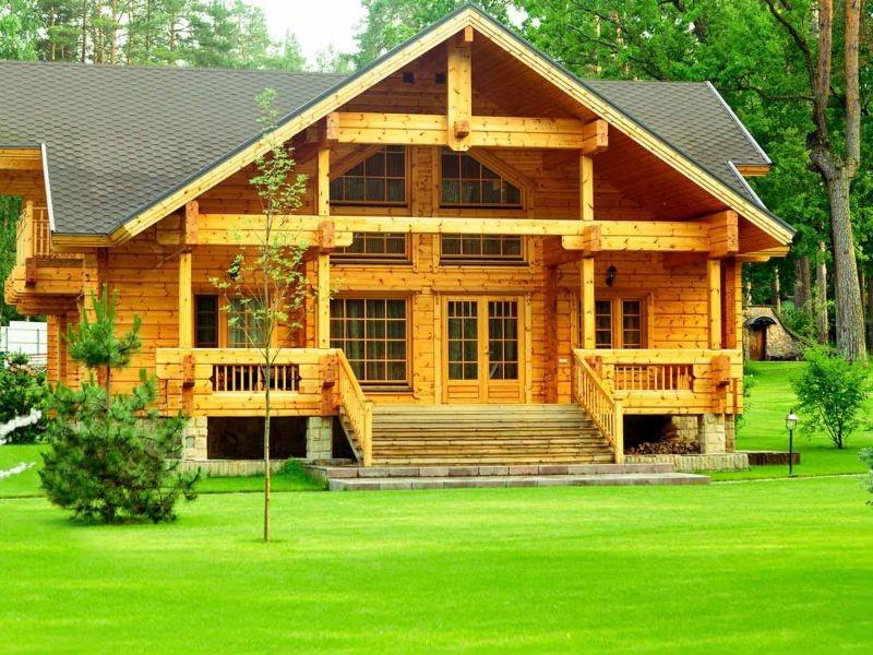 dom iz dereva 1 Кирпич, газобетон или дерево как выбрать качественный материал для строительства дома