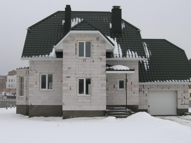 фото построенных домов из блоков