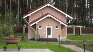 1 2 300x169 Дома из деревянного кирпича Wood Brick Фотогалерея