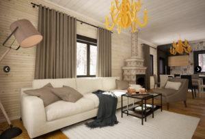 1 3 300x204 Дома из деревянного кирпича Wood Brick Фотогалерея