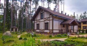 10 300x161 Дома из деревянного кирпича Wood Brick Фотогалерея