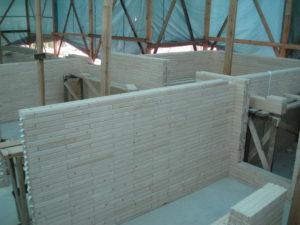14 300x225 Дома из деревянного кирпича Wood Brick Фотогалерея