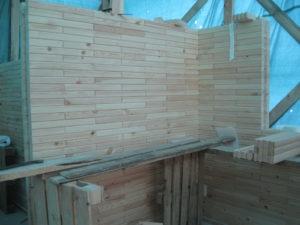 15 300x225 Дома из деревянного кирпича Wood Brick Фотогалерея