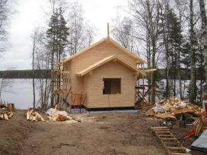 17 300x225 Дома из деревянного кирпича Wood Brick Фотогалерея