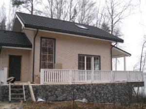 19 300x225 Дома из деревянного кирпича Wood Brick Фотогалерея