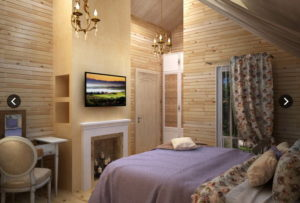 2 3 300x203 Дома из деревянного кирпича Wood Brick Фотогалерея