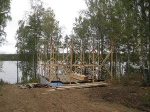 3 4 300x225 Дома из деревянного кирпича Wood Brick Фотогалерея