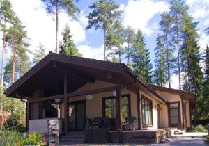 9 300x210 Дома из деревянного кирпича Wood Brick Фотогалерея